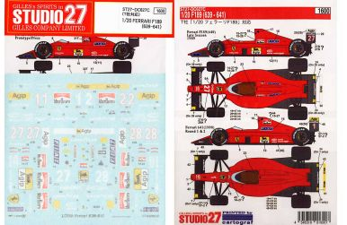 Ferrari F189 (639, 640, 641) 1989/1990 Decal 1/20 - Studio27 - ST27-DC627C