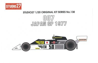 "Tyrrell 007 ""Hoshino"" #52 Japan GP 1/20 - Studio27 - ST27-FK20137"