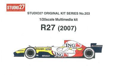 Renault R27 Grand Prix of Australia 2007 1/20 - Studio27 - ST27-FK20203
