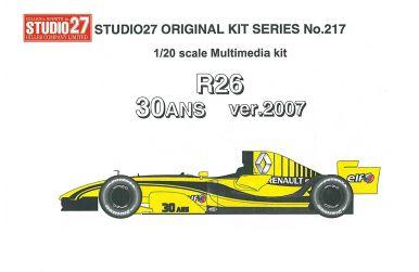 Renault R26 30 Anniversary Silverstone 2007 1/20 - Studio27 - ST27-FK20217