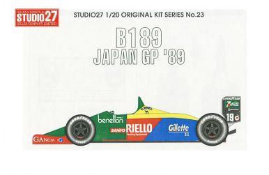 Benetton B189 Japan Grand Prix 1989 1/20 - Studi27 - ST27-FK2023