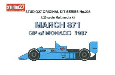 March 871 #16 Monaco GP 1987 1/20 - Studio27 - ST27-FK20238