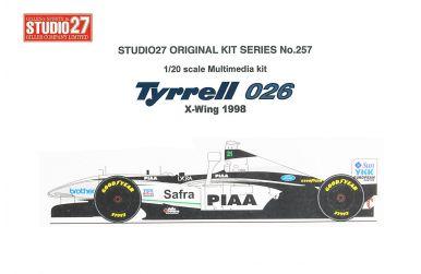 """Tyrrell 026 Early Season """"X-Wing"""" 1998 1/20 - Studio27 - ST27-FK20257"""