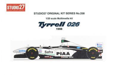 Tyrrell 026 Late Season 1998 1/20 - Studio27 - ST27-FK20258