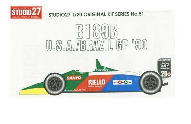 Benetton B189B U.S.A. / Brazil Grand Prix 1990 1/20 - Studio27 - ST27-FK2051