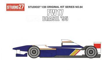 Williams FW17 Brazil Grand Prix 1995 1/20 - Studio27 - ST27-FK2064