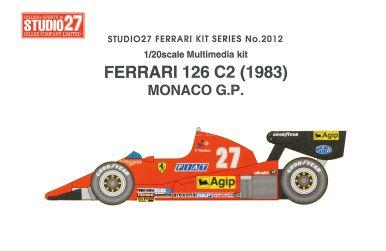 Ferrari 126C2 San Marino GP 1983 - Studio 27 - ST27-FR2011