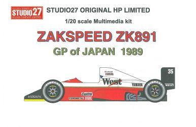 Zakspeed 891 Canada GP 1989 1/20 - Studio27 - ST27-HP2014