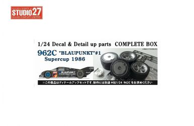 Porsche 962C Blaupunkt #1 Supercup 1986 - Decal & Detail up parts Complette box 1/24 - Studio 27 - ST27-CP24013
