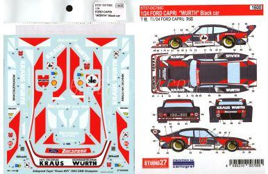 Ford Capri Zakspeed Jägermeister - Deutsche Rennsport Meisterschaft 1982 Decals 1/24 - Studio 27 - ST27-DC699C