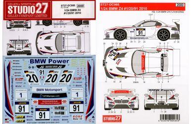 BMW Z4 Doerr #69 1/24 - Nurburgring 24 Hours - Studio27 - ST27-DC942 - Decals