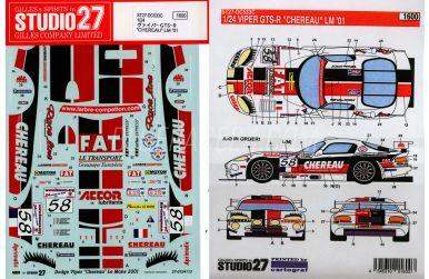 "Chrysler Viper GTS-R ""Chereau"" LM 2001 #58"