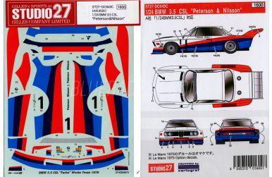 "BMW 3.5 CSL Turbo Silverstone 1976 ""Peterson & Nilsson"" #1"