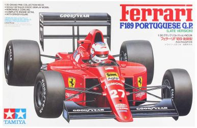 Ferrari F189 (640) Late Version Portuguese Grand Prix 1989 1/20 - Tamiya - TAM-20024