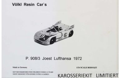 Porsche 908/3 Joest Lufthansa 500km Imola 1972 1/24 - Völk Resin Car's - VMC-20
