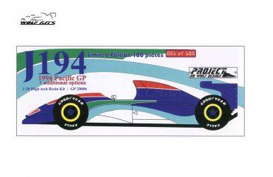 Jordan 194 Pacific Grand Prix 1994 1/20 - Wolf Kits - WK-GP20006