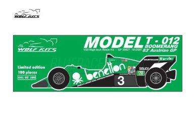 """Tyrrell 012 """"Boomerang"""" Austria Grand Prix 1983 1/20 - Wolf Kits - WK-GP20027"""