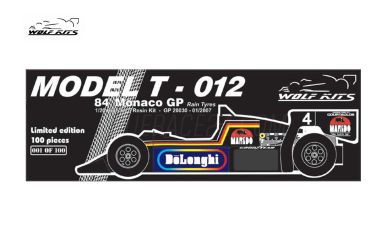 Tyrrell 012 Monaco Grand Prix 1984 1/20 - Wolf Kits - WK-GP20030