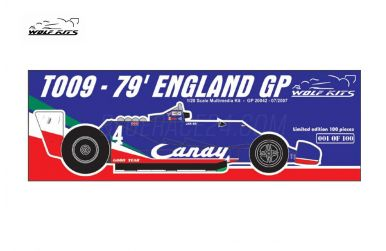 Tyrrell 009 British Grand Prix 1979 1/20 - Wolf Kits - WK-GP20042