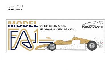 Arrows FA1 Sweden GP 1978 1/12 - Wolf Kits - WK-GP20111S
