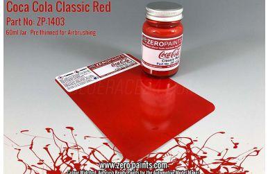 Coca Cola Classic Red Paint 60ml - Zero Paints - ZP-1403