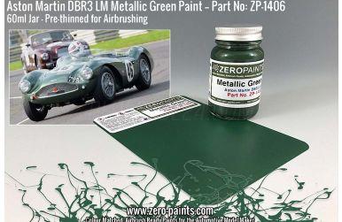 Aston Martin DBR3 LM Metallic Green Paint 60ml - Zero Paints - ZP-1406