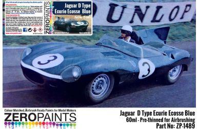 Jaguar D Type Ecurie Ecosse Blue Paint 60ml - Zero Paints -  ZP-1489