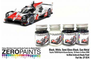 Toyota TS050 Hybrid Gazoo Racing Paint Set 4x30ml - Zero Paints - ZP-1574