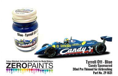Tyrrell 011 Blue Candy Sponsored Paint 30ml - Zero Paints - ZP-1631