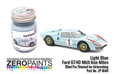 Light Blue Ford GT40 Mk. II Ken Miles Paint 30ml - Zero Paints - ZP-1640